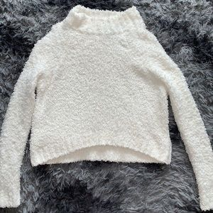 """""""Forever 21"""" cropped Sherpa sweater"""
